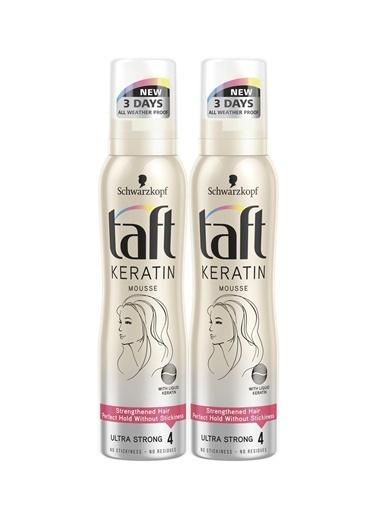 TAFT Taft Keratin Ultra Güclü Köpük 150Ml X 2 Paket Renksiz